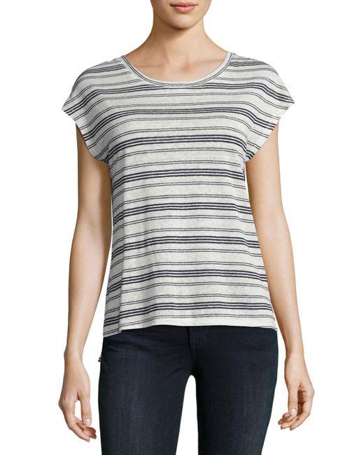Joie | Blue Kinsley Striped Linen Top | Lyst