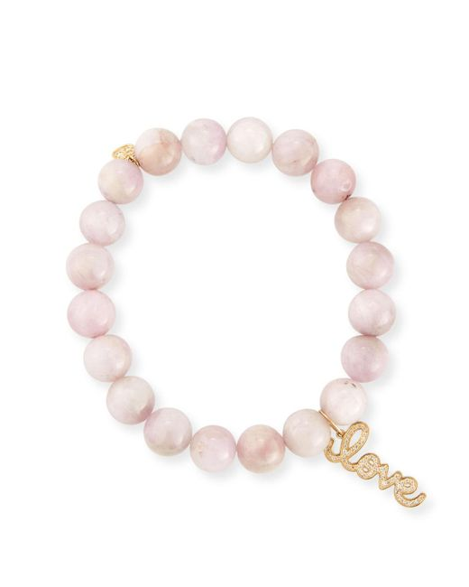 Sydney Evan | Pink Anniversary Love 8mm Kunzite Beaded Bracelet With Diamonds | Lyst
