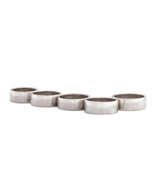 Eddie Borgo   Metallic Five-finger Ring   Lyst