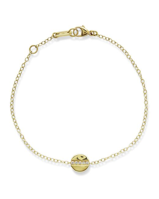 Ippolita - Metallic 18k Yellow Gold Sensotm Mini Disc Bracelet With Diamonds - Lyst