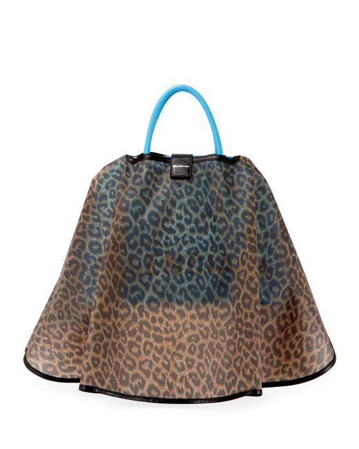 Balenciaga - Blue Ville Aj Leather Satchel Bag W/cape - Lyst