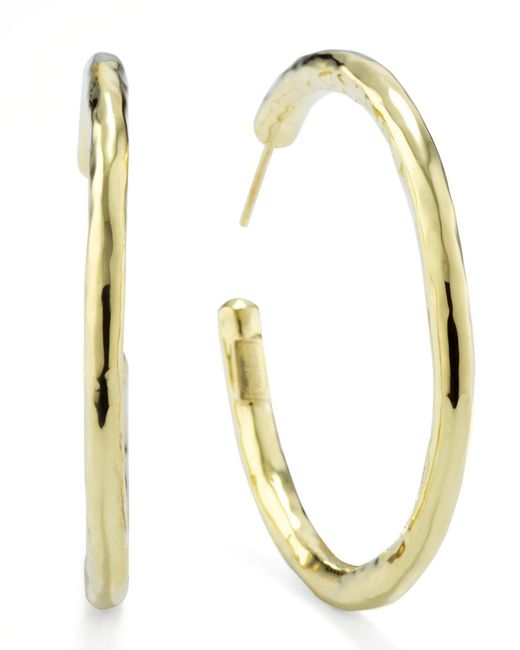 Ippolita | Metallic Glamazon 18k Gold #3 Hoop Earrings | Lyst