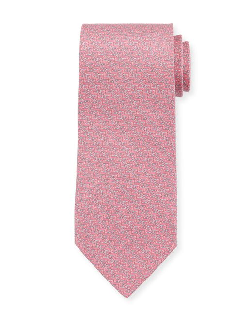 Ferragamo - Pink Forte Interlocking Gancini Silk Tie for Men - Lyst