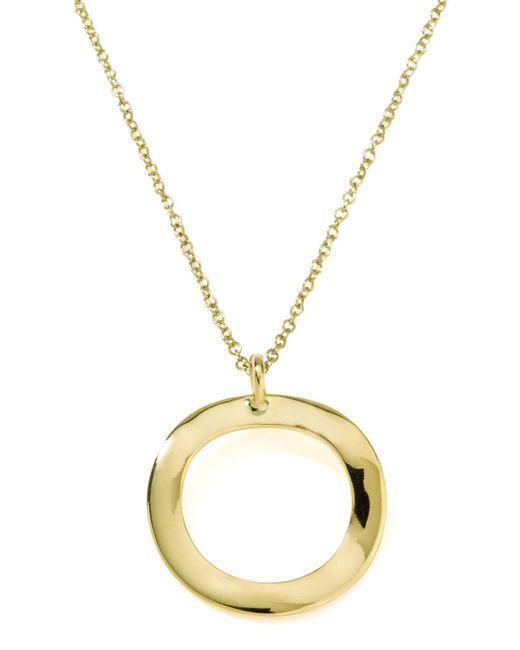 Ippolita - Metallic Mini Wavy Circle Pendant Necklace - Lyst