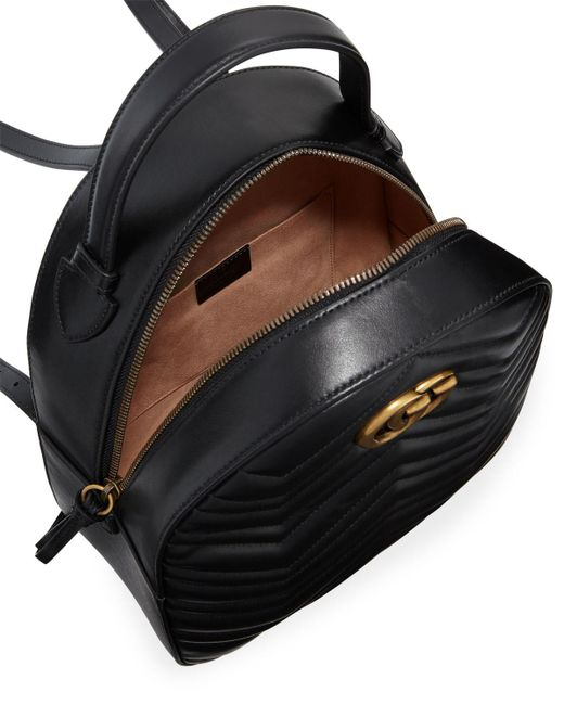 5e593289f023 Gucci GG Marmont Quilted Leather Backpack in Black - Save 5% - Lyst