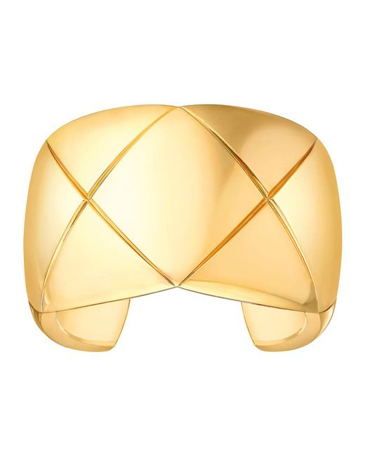 Chanel | Metallic Coco Crush Cuff Bracelet In 18k Yellow Gold | Lyst