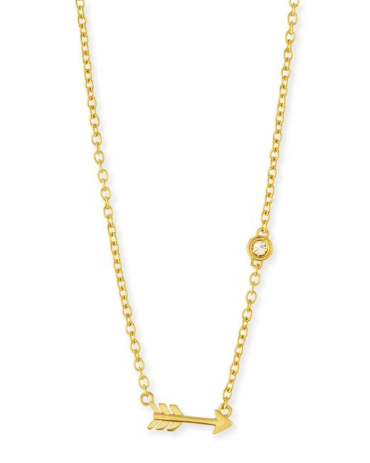 Shy By Sydney Evan | Metallic Arrow Bezel-diamond Pendant Necklace | Lyst