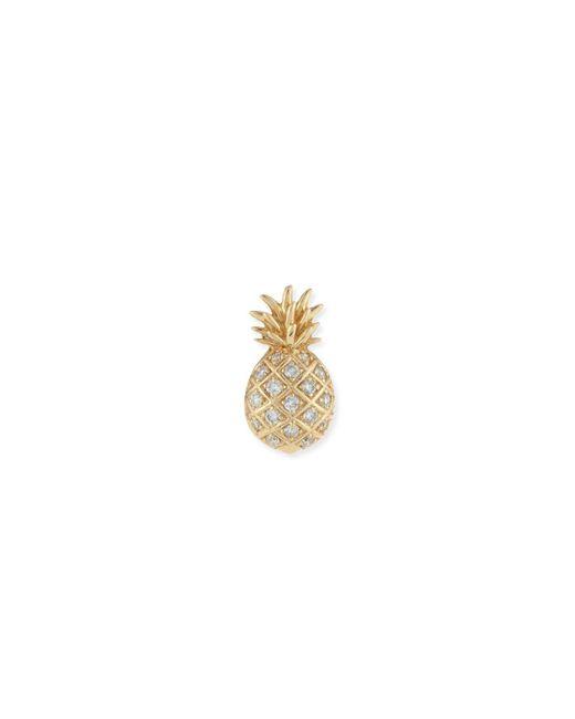 Sydney Evan   Metallic Pavé Diamond Pineapple Single Stud Earring   Lyst