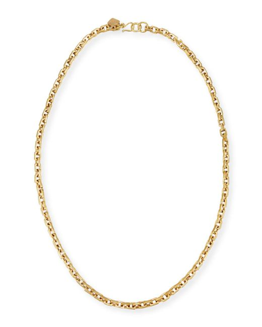 Ashley Pittman - Metallic Hisia Long Hammered Bronze Link Necklace - Lyst