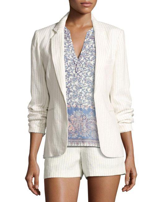 Joie | White Mehira Pinstripe Blazer | Lyst