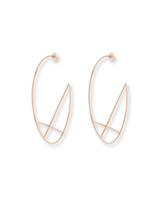 Lana Jewelry - Metallic 14k Wire Diagonal Cross Eclipse Hoop Earrings - Lyst