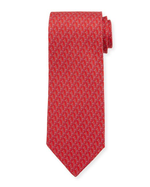 Ferragamo - Pink Fiona Giraffe Silk Tie for Men - Lyst