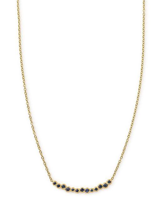 Ippolita - Metallic 18k Glamazon Stardust Smile Bar Necklace With Blue Sapphires - Lyst