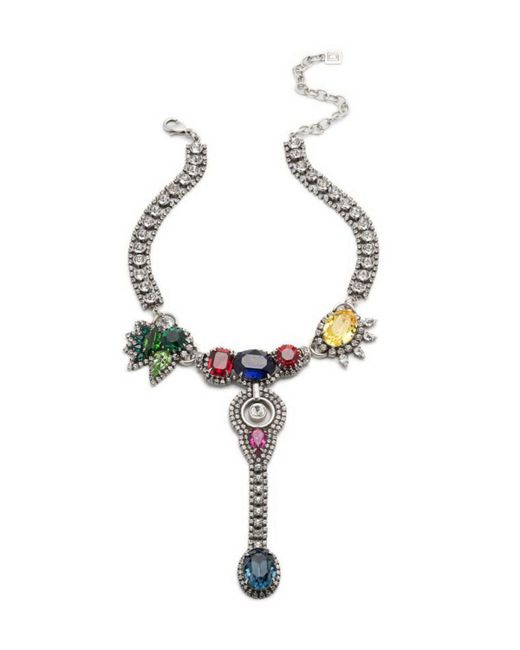 DANNIJO - Metallic Diana Multicolor Crystal Statement Necklace - Lyst