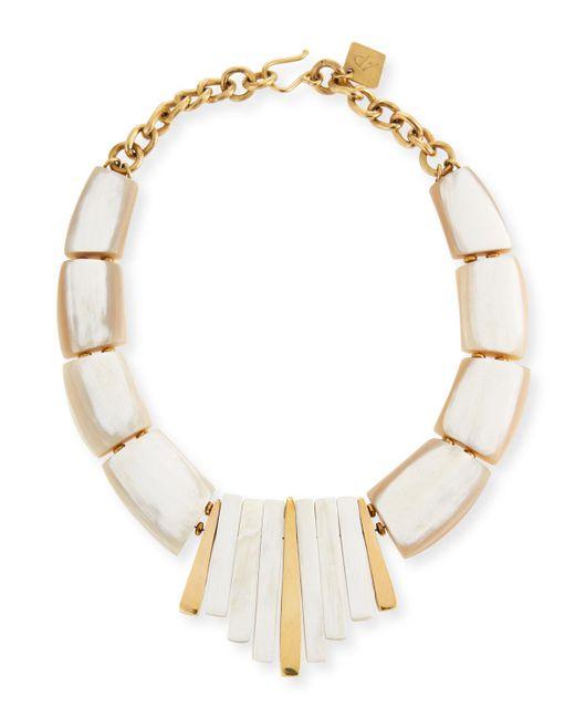 Ashley Pittman - White Karamu Chunky Collar Necklace - Lyst