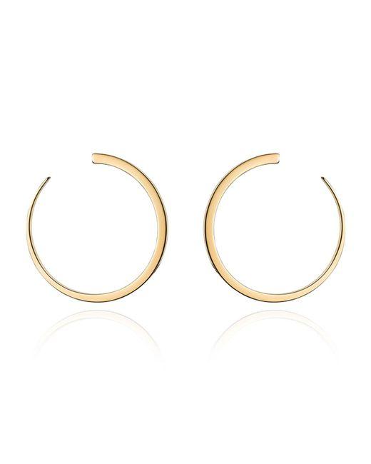 Vita Fede | Metallic Moon Hoop Earrings | Lyst