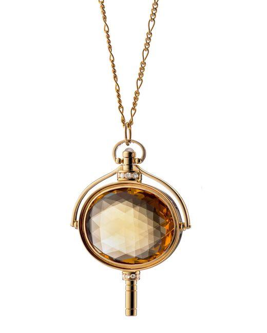Monica Rich Kosann - Metallic Honey Quartz Oval Key Necklace - Lyst
