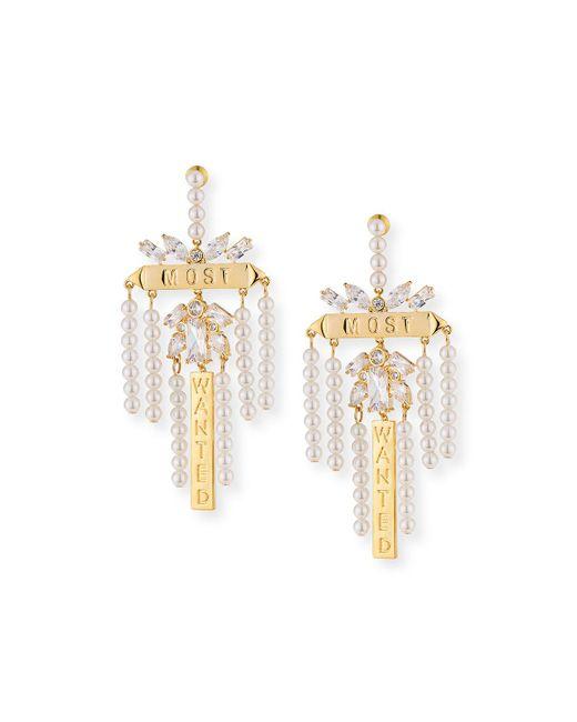 Fallon - Metallic Monarch Most Wanted Drop Earrings - Lyst