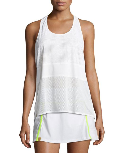 Monreal London | White Scoop-neck Racerback Performance Tank | Lyst