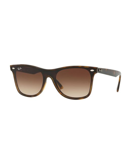 0372c5bfa70 Ray-Ban - Brown Blaze Wayfarer Lens-over-frame Square Sunglasses - Lyst ...