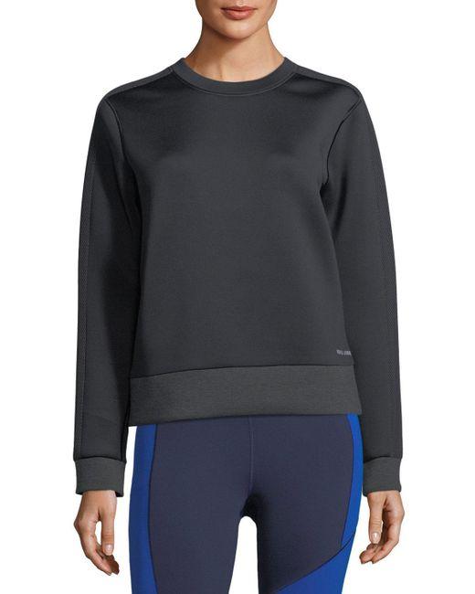 Under Armour   Black Luster Crewneck Long-sleeve Sweatshirt   Lyst