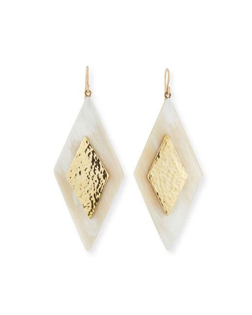 Ashley Pittman - White Rikebu Light Horn Drop Earrings - Lyst