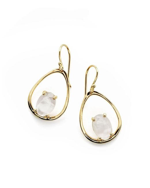 Ippolita | Metallic 18k Rock Candy Wire Earrings In Mother-of-pearl | Lyst