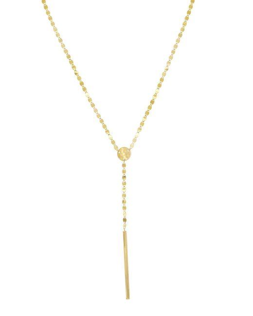 Lana Jewelry - Metallic Nude Bar Lariat Necklace - Lyst
