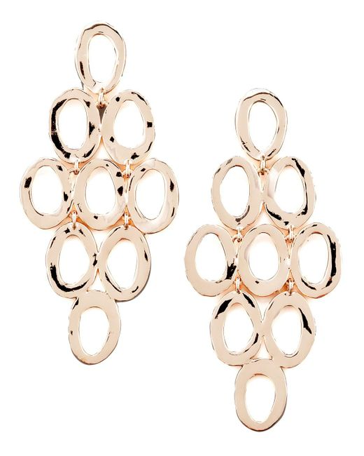 Ippolita - Pink Rose Gold Open Cascade Post Earrings - Lyst