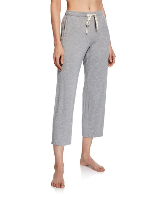 Skin - Gray Leora Drawstring Capri Pants - Lyst
