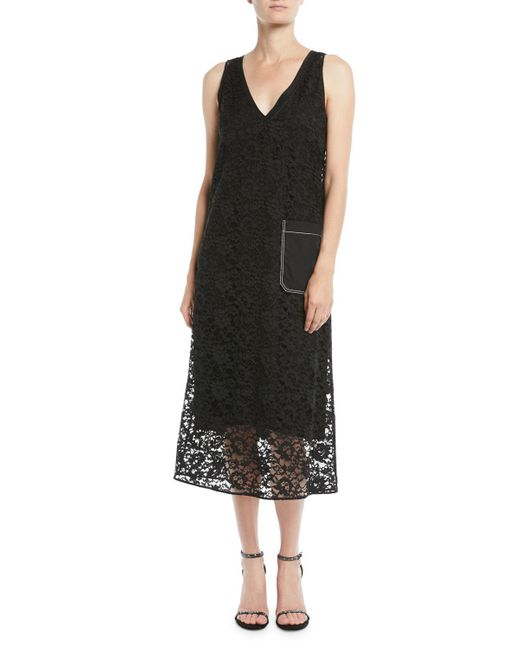 Joseph - Black Margo Palermo Lace V-neck Dress - Lyst