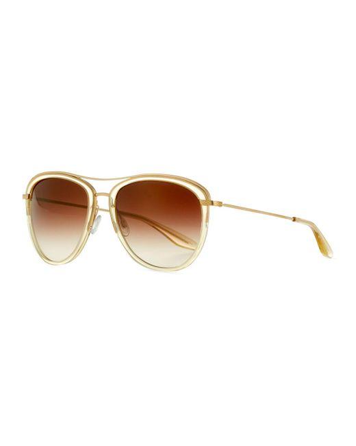 Barton Perreira - Brown Universal Fit Aviatress Aviator Sunglasses - Lyst