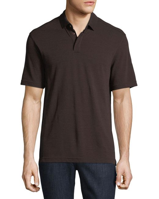 Z zegna techmerino wool polo shirt in red for men lyst for Zegna polo shirts sale