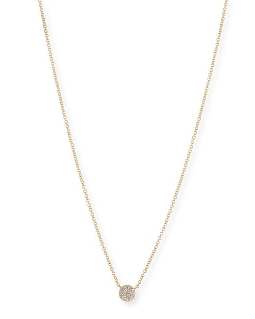 EF Collection - Metallic Diamond Disc Pendant Necklace - Lyst