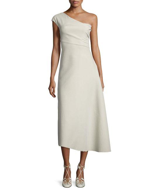 The Row | Multicolor Linus One-shoulder Midi Dress | Lyst