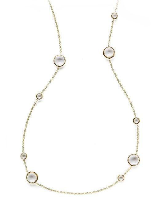 Ippolita - Metallic Clear Quartz Lollipop Necklace 37 - Lyst