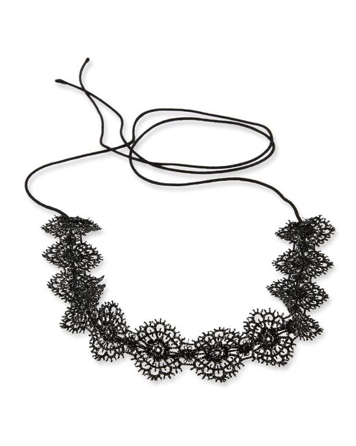 Fallon   Multicolor Scalloped Crystal Lace Choker Necklace   Lyst