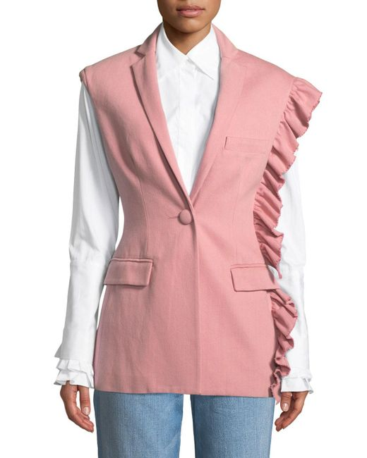 Maggie Marilyn - Pink Girl With A Dream Shoulder-ruffle Vest - Lyst