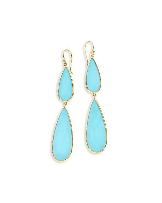 Ippolita | Blue 18k Rock Candy Double-drop Turquoise Earrings | Lyst