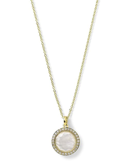Ippolita - Metallic 18k Gold Rock Candy Mini Lollipop Diamond Necklace In Mother-of-pearl - Lyst