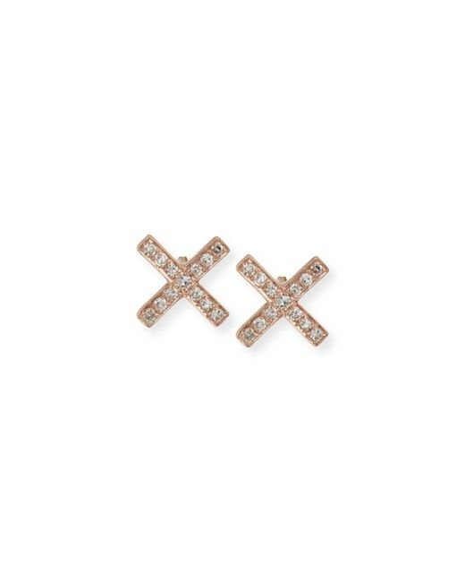 EF Collection Black Diamond X Stud Earring Pair