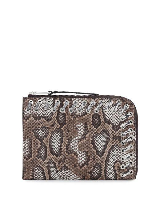 Fendi | Brown Flat Python Whipstitch Clutch Bag | Lyst