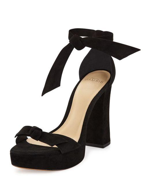 Alexandre Birman | Black Mabeleh Suede 110mm Platform Sandal | Lyst