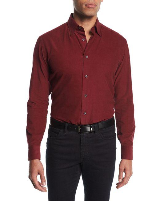 Brioni   Red Corduroy Sport Shirt for Men   Lyst