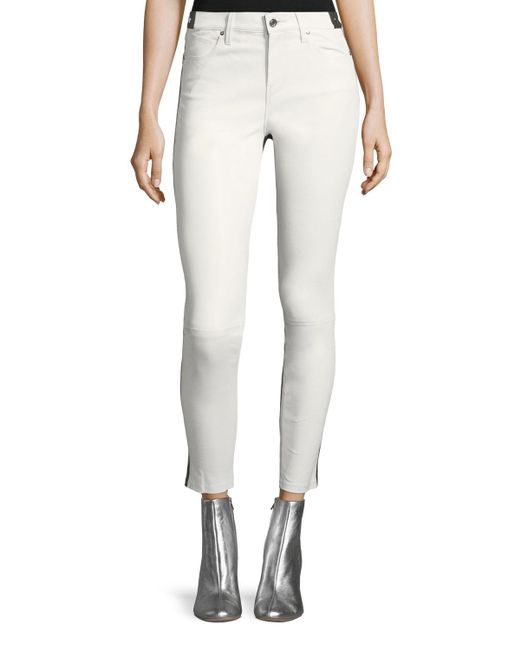 RTA - Multicolor Gypsy 2-tone Skinny-leg Leather Pants - Lyst