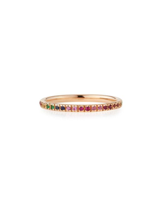 Sydney Evan - Metallic 14k Rose Gold Rainbow Ring - Lyst