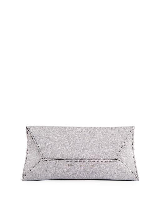 VBH - Gray Manila Stretch Sparkle Clutch Bag - Lyst