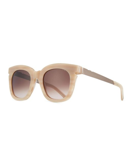 Pared Eyewear - Natural Pools & Palms Notched Square Sunglasses - Lyst