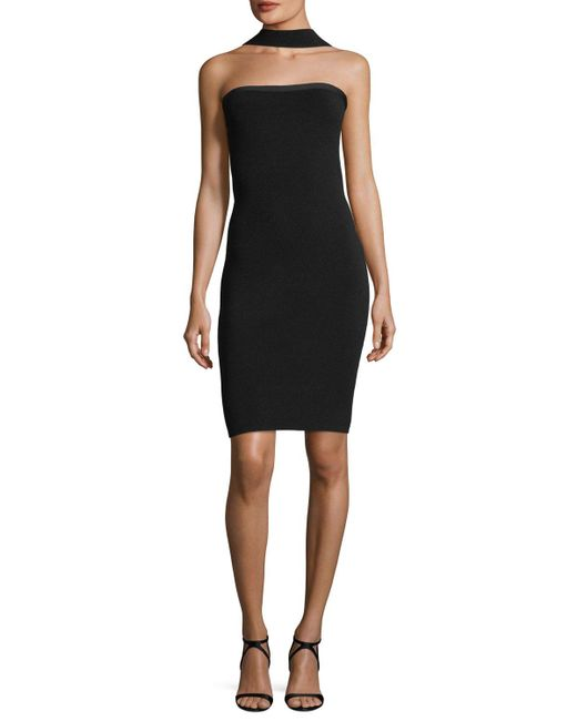 Elie Tahari | Black Blossom Convertible Strapless Sweater Dress | Lyst