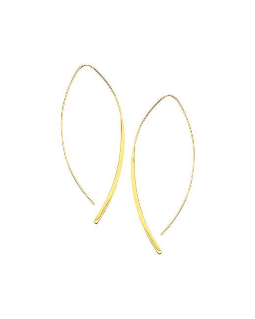 Lana Jewelry | Metallic 14k Gold Large Arch Hoop Earrings | Lyst